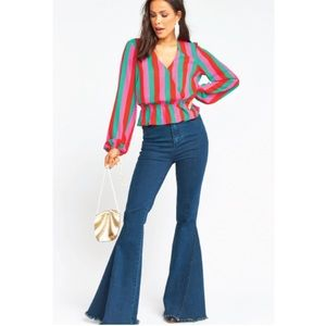 Show Me Your Mumu Richie Top Feliz Stripe Peplum